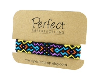 Friendship Jewellery Bracelet / Gift Best Friend / Woven Macrame Wrist Colorful Handwoven Cuff / Hippie Boho Tribal Folk PerfectImp Braclets