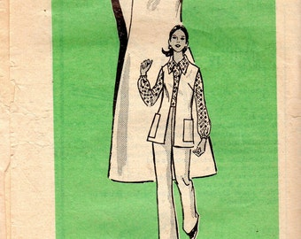 "1970s Women's Blouse, Pants, Jacket and Dress or Jumper Pattern - Size 12, Bust 34"" - Mail Order 4892"