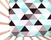 Crib Sheet Black + Mint Triangles. Fitted Crib Sheet. Baby Bedding. Crib Bedding. Minky Crib Sheet. Crib Sheets. Mint Crib Sheet.