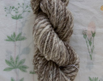 Handspun Undyed Blue Faced Leicester Bulky Yarn