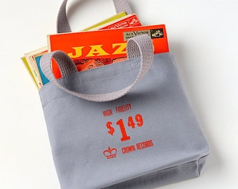 45 Record Bag, Small Turntable Tote, Hi Fidelity Purse, Audiophile Gift, Ready to Ship