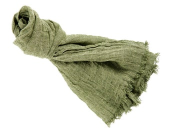 Linen scarf, linen scarve, natural scarf, man women scarf, spring accessory