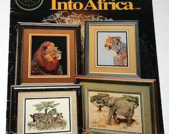 Into Africa Cross Stitch Pattern Book 1993 Cross My Heart