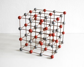 Vintage molecular atom model chemistry lab supply teaching material