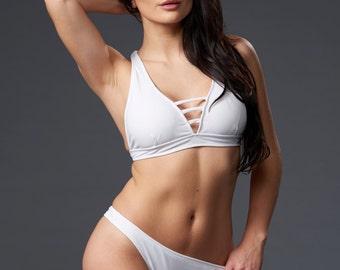 White Strappy Evita Top