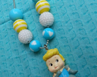 "Cinderella Doll 24"" Ball Chain Bubblegum Bead Chunky Necklace - Photo Prop- *Ready to ship*"