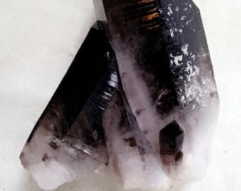 Smoky Black Quartz Crystal Display Specimen Crystal Point Smokey Quartz