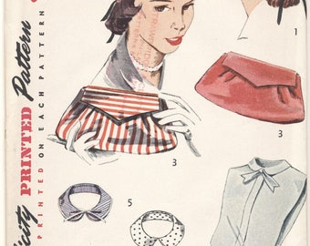 Vintage 1952 Simplicity Pattern 4195 Hat Purse Collars More FACTORY FOLDED