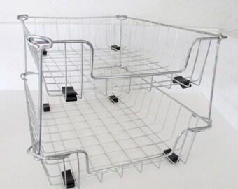 Industrial Wire File Baskets - 2 - Tier
