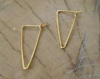 "Earrings...NEW ""Valleys""  handmade hammered brass earrings."
