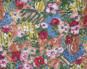 Vintage French Fabric. Unused. Drapery. Upholstery, Stunning long length.