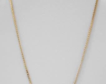"Vintage 18"" Opaline Necklace (6611) Tiny Ruby Red Rhinestone"