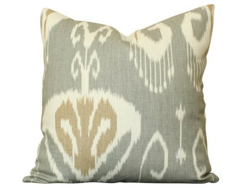 Kravet Bansuri Ikat Pillow Cover in Slate