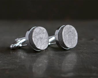 1st Anniversary Gift for Husband - Recycled Paper Cufflinks with Custom Engraving