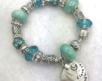 Love You to the Moon Charm Bracelet
