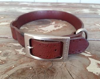 BOOTS & BARKLEY COLLAR-Dog Collar,Leather Dog Collar,Leather Strap,Vintage Dog Collar,Leather Necklace,Vintage Dog,Vintage Pet,Vintage Farm