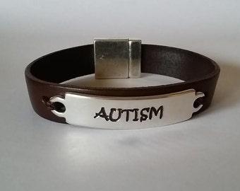 Medical Id bracelet, medical alert, Custom engraved bracelet, leather bracelet, Mens Leather Bracelet, Engraved leather bracelet,