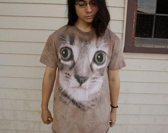 Awesome Tie Dye Kitten Tshirt