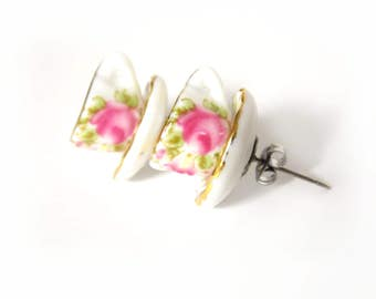 Tea Cup Earrings, Teacup Earrings, Tea Party Outfit, Tea Party Favors, Stud Earrings, Tea Gifts, Tea-Lover Gift, Tea Jewelry, Miniature Tea
