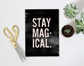 Stay Magical Typography Art Print