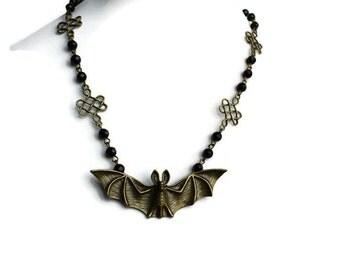 Bat Necklace, Gothic Jewellery, Bat Jewellery, Gothic Necklace,  Halloween Necklace, Bat Gift, Horror Necklace,  Goth Necklace, Gothic Bat,