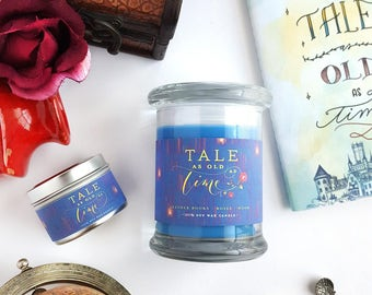 Tale as Old as Time // Beauty and the Beast 8oz Jar Candle — Scented Soy Candle