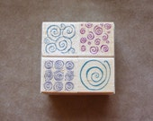 Swirl Patterns/ Set of 4/ Rubber Stamp by Hero Arts 2002/New