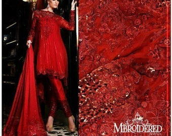 Valentine Special, Maria B premium wedding edition, stitched replica,red pakistani dress, made to order, pakistani clothes, red, love, heart