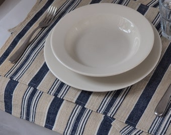 Placemats made from vintage turkish fabric, set of two