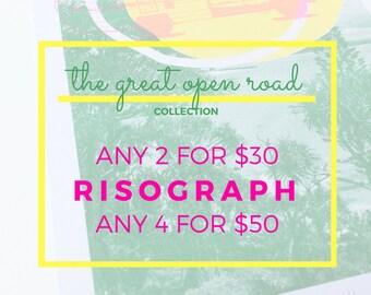 SPECIAL risograph, limited edition art, original design, combi, gift idea