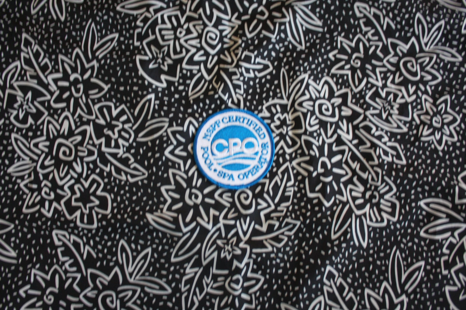 Vintage Pool Boy Embroidered Patch 80s Rare Nspf Pool Spa Operator Patch Blue And White Jean