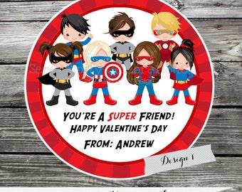 Printable Valentine Cards, superhero Valentine's Day Cards, Classroom Cards, Valentine's Day,  Kids Valentine Cards, DIY Valentine's Card