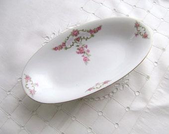 Vintage Eamag Schonwald, Oval Dish, Bavarian Porcelain, Pickle Dish, Trinket Bowl, Candy Bowl, Jewelry Dish, Nut Dish, Oval Bowl