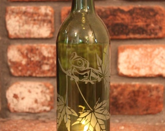 Frog Wine Bottle Lantern Kit (Stand & Candle Included)