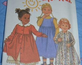 New Look 6660 Toddlers Dress Sewing Pattern - UNCUT - Sizes 1/2 1 2 3 4