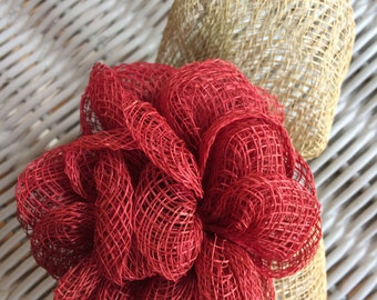 Decorative Fiber Flower Pin from the Fifties