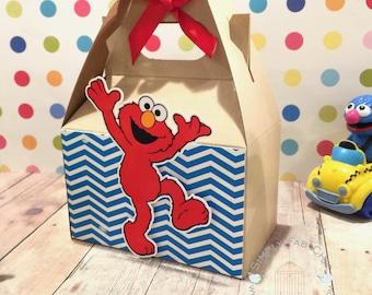 Elmo Favor Box | Birthday Party Treat Box | Snack Box | Party Box | Sesame Street Gable Box | Cookie Monster | Abby Cadabby | Big Bird