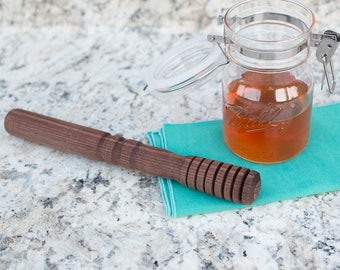 Honey Dipper, Wood Honey Dipper, Wooden Honey Dipper, Wood Honey Stick, Wood Honey Wand, Handmade Cooking Gift, Syrup Dipper, Gift For Her