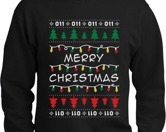 Merry Christmas From The Upside Down Ugly Xmas Men's Crewneck Sweatshirt