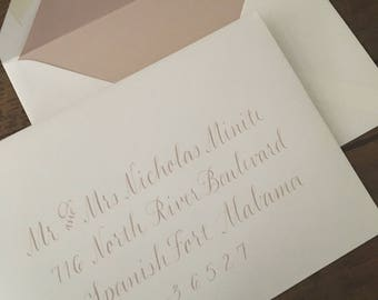 "Wedding Calligraphy Envelope Addressing - Place Cards / Buffet Cards / Escort Cards & Table Numbers Also Available - ""The Jacqueline Style"""