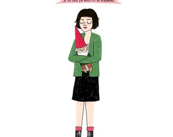Amélie Print - Hand-Illustrated