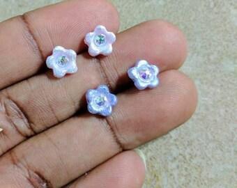 Swarovski Blossom Earrings - Flower studs - Crystals