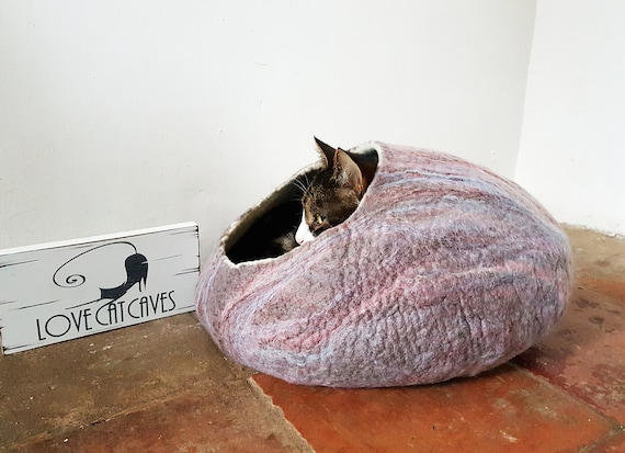 Cat Bed / Cat Cave / Cat House / Cat nap cocoon / Cat lover gift marble effect