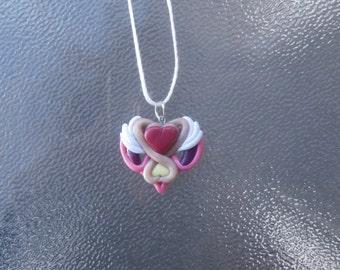 Lolirock Iris Necklace Kawaii Magical Girl Pendant Clay Jewelry