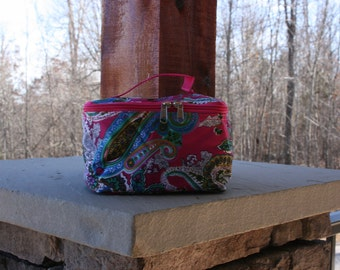 Personalized Paisley Cosmetic Bag