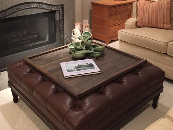 square ottoman tray