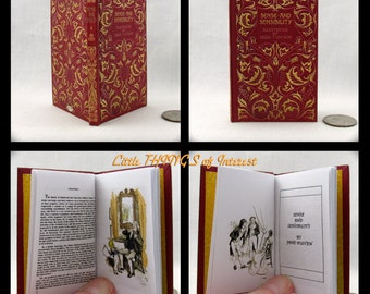 SENSE AND SENSIBILITY Book in 1:3 Scale Readable Miniature Book Accessories American Girl