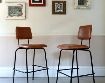 Pair of 1960s Cafe Counter Stools