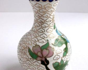 Miniature Vase - Vintage Decor - Decorative Vases - Cloisonne Vase