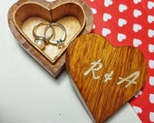 Personalised Engraved Jewellery Box  Wooden Heart Box  Ring Holder  Anniversary Gift  Engagement Gift  Proposal Box  Wedding Keepsake